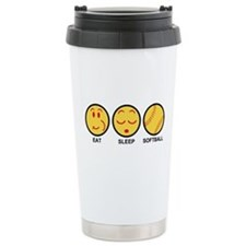 Eat Sleep Softball Travel Mug