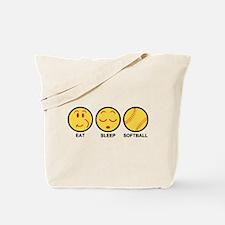 Eat Sleep Softball Tote Bag