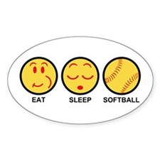 Eat Sleep Softball Decal