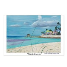 Island Getaway Postcards (Package of 8)