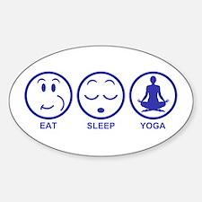 Eat Sleep Yoga Sticker (Oval)