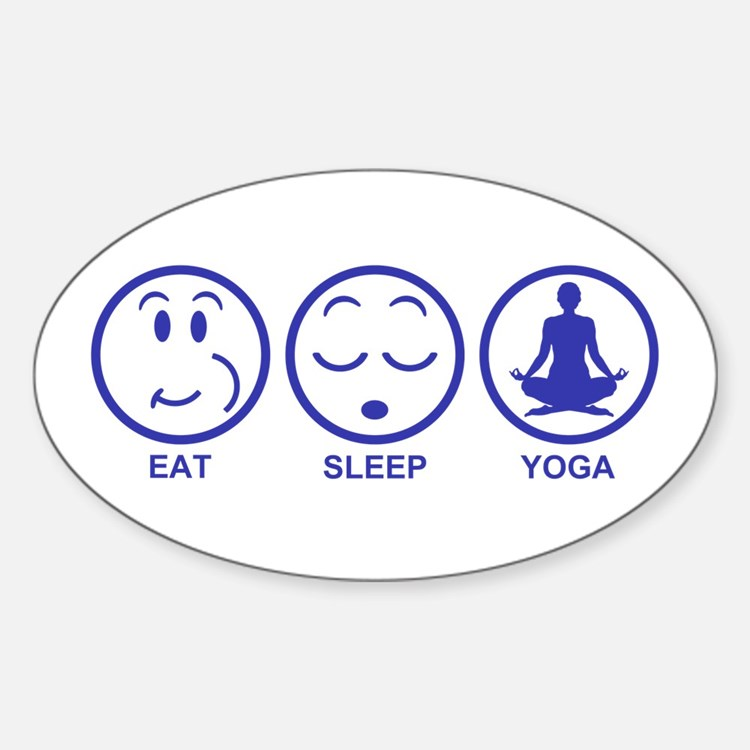 Eat Sleep Yoga Sticker (Oval)