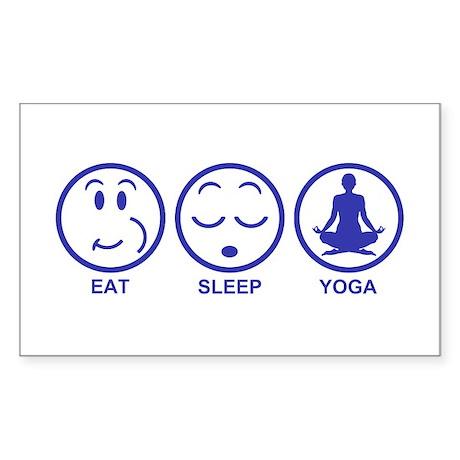 Eat Sleep Yoga Sticker (Rectangle)