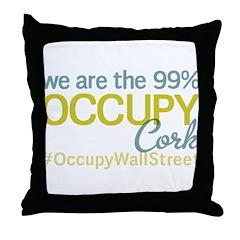 Occupy Cork Throw Pillow