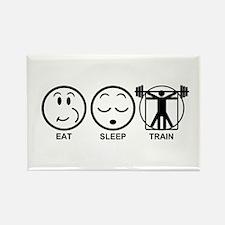 Eat Sleep Train Rectangle Magnet