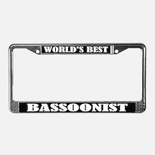 Bassoonist Gift License Plate Frame