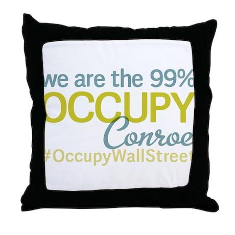 Occupy Conroe Throw Pillow