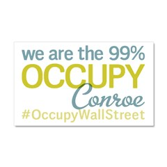 Occupy Conroe Car Magnet 20 x 12