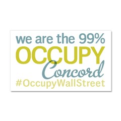 Occupy Concord Car Magnet 20 x 12