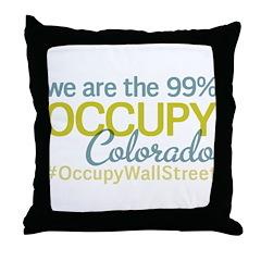 Occupy Colorado Springs Throw Pillow
