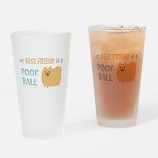 Pomeranian Poof Ball Drinking Glass