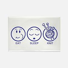 Eat Sleep Knit Rectangle Magnet