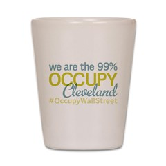Occupy Cleveland Shot Glass