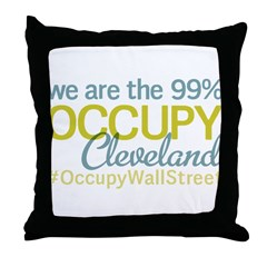 Occupy Cleveland Throw Pillow