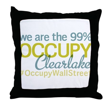 Occupy Clearlake Throw Pillow