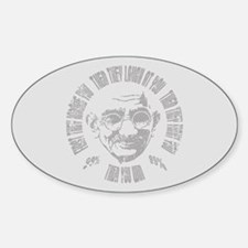 Gandhi - Then You Win Sticker (Oval)