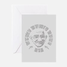 Gandhi - Then You Win Greeting Cards (Pk of 10)