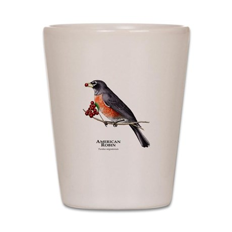 American Robin Shot Glass