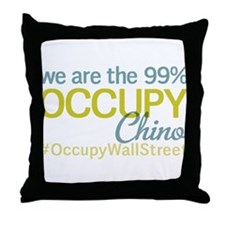 Occupy Chino Throw Pillow