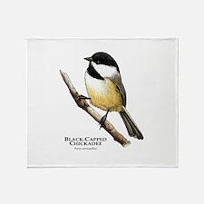Black-Capped Chickadee Throw Blanket