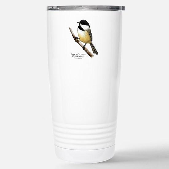 Black-Capped Chickadee Stainless Steel Travel Mug
