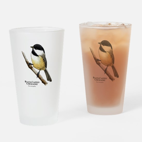 Black-Capped Chickadee Drinking Glass