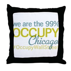 Occupy Chicago Throw Pillow