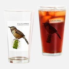 Cactus Wren Drinking Glass