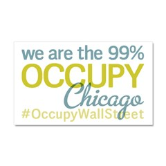 Occupy Chicago Car Magnet 20 x 12