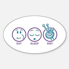 Eat Sleep Knit Decal