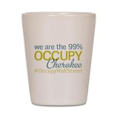 Occupy Cherokee Shot Glass