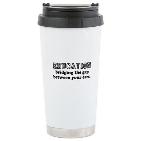 Knowledge is Power Stainless Steel Travel Mug