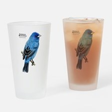 Indigo Bunting Drinking Glass