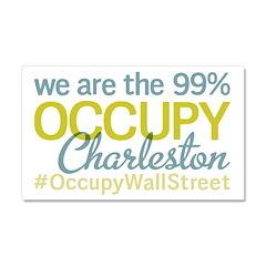 Occupy Charleston Car Magnet 20 x 12