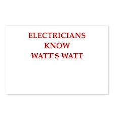 electrician joke Postcards (Package of 8)