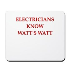 electrician joke Mousepad
