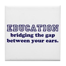 Education Bridging The Gap Tile Coaster