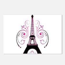 Eiffel Tower Gradient Swi Postcards (Package of 8)