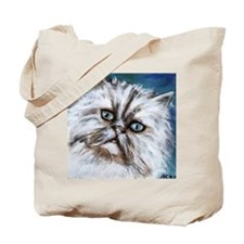 white persian cute cat Tote Bag