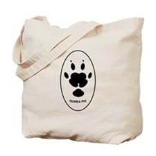 Guinea Pig Paw Print Tote Bag