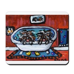 Hungarian Puli whimsical bath Mousepad