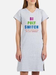 Bi Poly Switch Not Indecisive Women's Nightshirt
