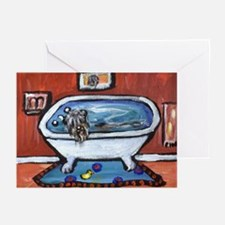BOUVIER bath Greeting Cards (Pk of 10)