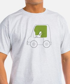 T-Rex Driving T-Shirt