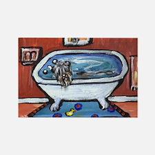 BOUVIER bath Rectangle Magnet