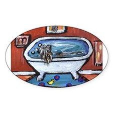 BOUVIER bath Oval Decal