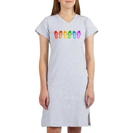 Rainbow Flip-Flops Women's Nightshirt