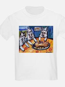 WHITE GERMAN SHEPHERD summer  Kids T-Shirt