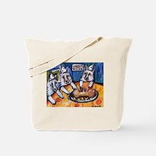 WHITE GERMAN SHEPHERD summer  Tote Bag