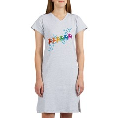 Rainbow Patio Chairs Women's Nightshirt